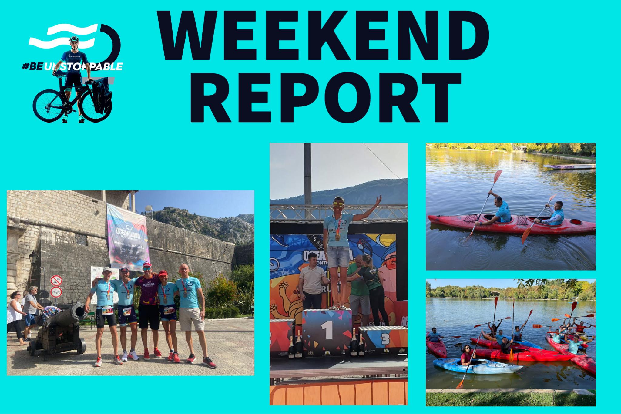 Weekend report: podiumuri în Muntenegru și cu caiacele în IOR